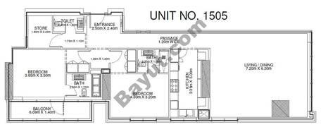 2 Br - Unit 1505 - 15th Floor