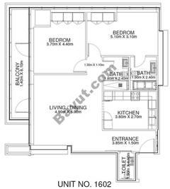 2 Br - Unit 1602 - 16th Floor