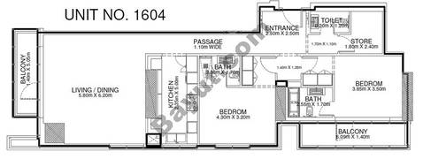 2 Br - Unit 1604 - 16th Floor