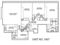2 Br - Unit 1607 - 16th Floor