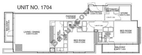 2 Br - Unit 1704 - 17th Floor