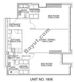 2 Br - Unit 1806 - 18th Floor
