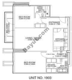 2 Br - Unit 1903 - 19th Floor
