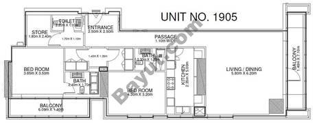 2 Br - Unit 1905 - 19th Floor