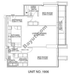 2 Br - Unit 1906 - 19th Floor