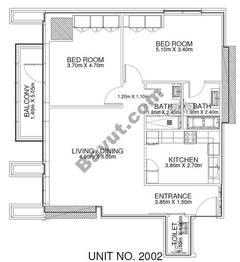 2 Br - Unit 2002 - 20th Floor