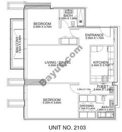 2 Br - Unit 2103 - 21th Floor