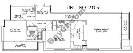 2 Br - Unit 2105 - 21th Floor
