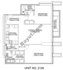 2 Br - Unit 2106 - 21th Floor