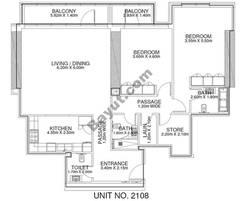 2 Br - Unit 2108 - 21th Floor