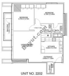 2 Br - Unit 2202 - 22nd Floor