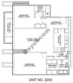 2 Br - Unit 2203 - 22nd Floor