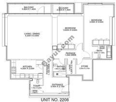 2 Br - Unit 2208 - 22nd Floor