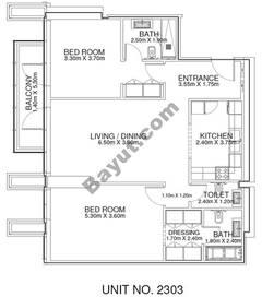 2 Br - Unit 2303 - 23rd Floor