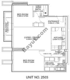 2 Br -Unit 2503 - 25th Floor