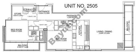 2 Br -Unit 2505 - 25th Floor