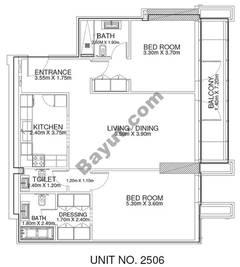 2 Br -Unit 2506 - 25th Floor