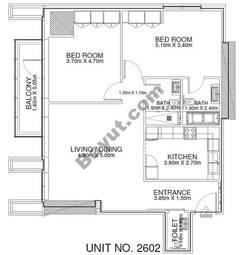 2 Br - Unit 2602 - 26th Floor