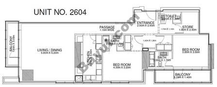 2 Br - Unit 2604 - 26th Floor