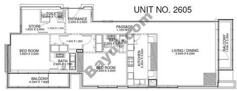 2 Br - Unit 2605 - 26th Floor