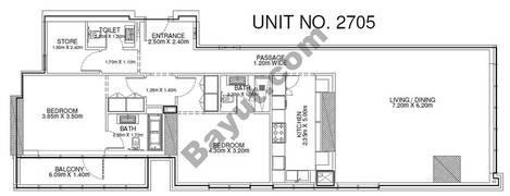 2 Br - Unit 2705 - 27th Floor