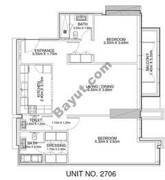 2 Br - Unit 2706 - 27th Floor