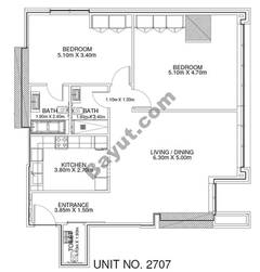 2 Br - Unit 2707 - 27th Floor