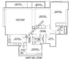 2 Br - Unit 2708 - 27th Floor