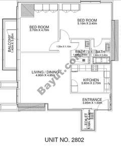 2 Br - Unit 2802 - 28th Floor