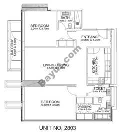 2 Br - Unit 2803 - 28th Floor