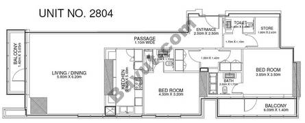 2 Br - Unit 2804 - 28th Floor