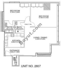 2 Br - Unit 2807 - 28th Floor
