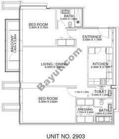 2 Br - Unit 2903 - 29th Floor