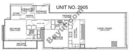 2 Br - Unit 2905 - 29th Floor