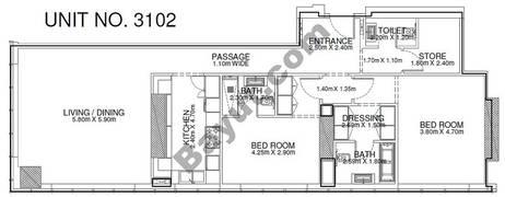 2 Br - Unit 3102 - 31th Floor