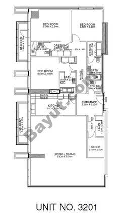 2 Br - Unit 3201 - 32nd Floor