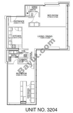 2 Br - Unit 3204 - 32nd Floor