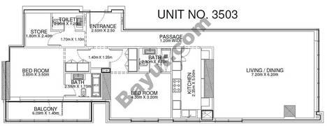 2 Br - Unit 3503 - 35th Floor