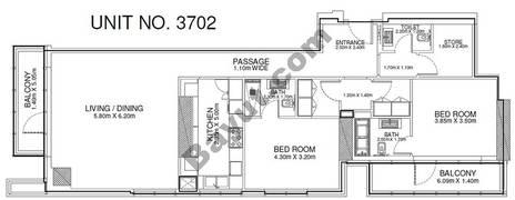 2 Br - Unit 3702 - 37th Floor