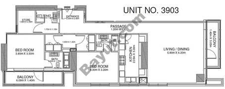 2 Br - Unit 3903 - 39th Floor