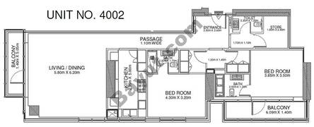2 Br - Unit 4002 - 40th Floor