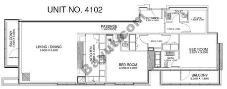 2 Br - Unit 4102 - 41st Floor