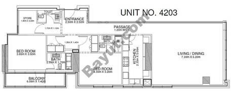 2 Br - Unit 4203 - 42nd Floor