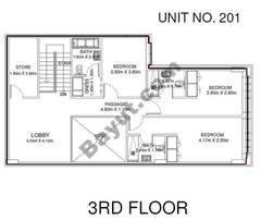 3 Br - Unit 201 - 3rd Floor