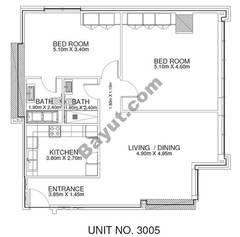 3 Br - Unit 3005 - 30th Floor