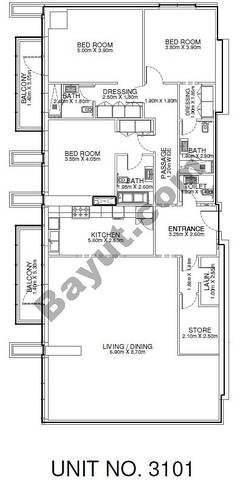 3 Br - Unit 3101 - 31th Floor