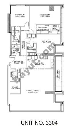 3 Br - Unit 3304 - 33rd Floor