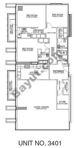 3 Br - Unit 3401 - 34th Floor