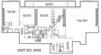3 Br - Unit 3405 - 34th Floor