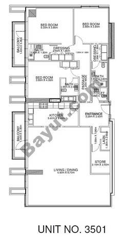 3 Br - Unit 3501 - 35th Floor